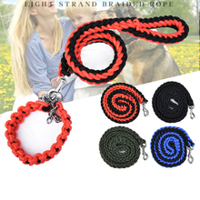 Nylon weave Dog Leash for Large Dogs Training Pet Product Collars Harnesses Accessory Adjustable Animal