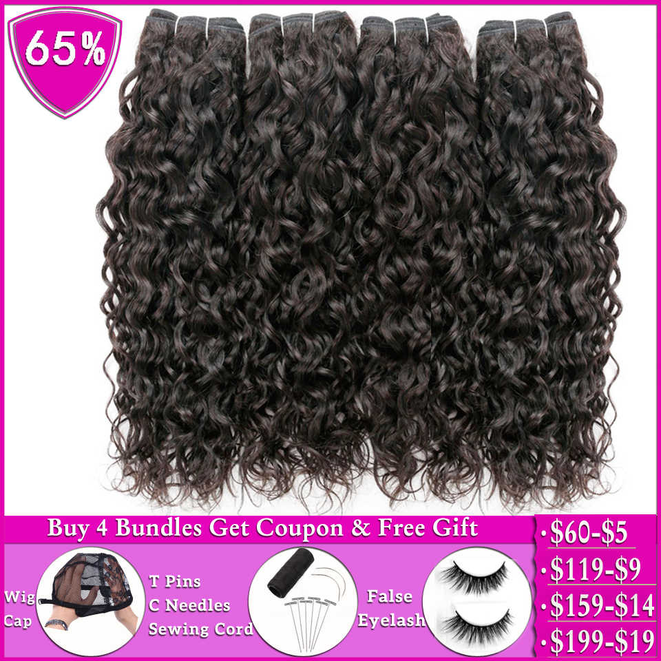 Beauty Grace Water Wave 1 Of 4 Bundels Menselijk Haar Bundels Deals Niet-Remy Hair Extensions Peruaanse Braziliaanse Haar weave Bundels