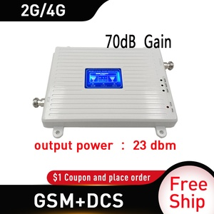 Image 2 - Russia GSM 900 UMTS 1800 mhz Dual Band Repeater 2G 3G 4G LTE Phone Amplifier Cellular Mobile Booster +LPDA whip Antenna