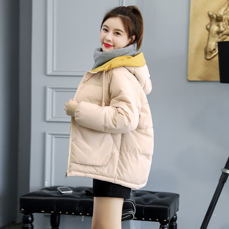 2019 Winter Jacket Women Plus Size Womens Parkas  Outerwear Solid Hooded Coats Short Female Slim Cotton Padded Coats