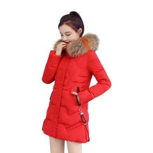 2019 Slim Women Winter coat Cotton Padded Warm Thicken Autumn Ladies Windbreaker Long Overcoats Parka Womens chaqueta mujer(China)
