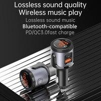 BC72 trasmettitore FM 5.0 compatibile Bluetooth per auto USB C PD 18W caricabatterie BT adattatore Radio FM supporto doppio Display tubo digitale