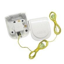 5 sztuk Retro przełącznik przewodu zapłonowego montaż powierzchniowy przełącznik fotoelektryczny staromodny ciągnąć linę miedzi Terminal ręcznie On/off