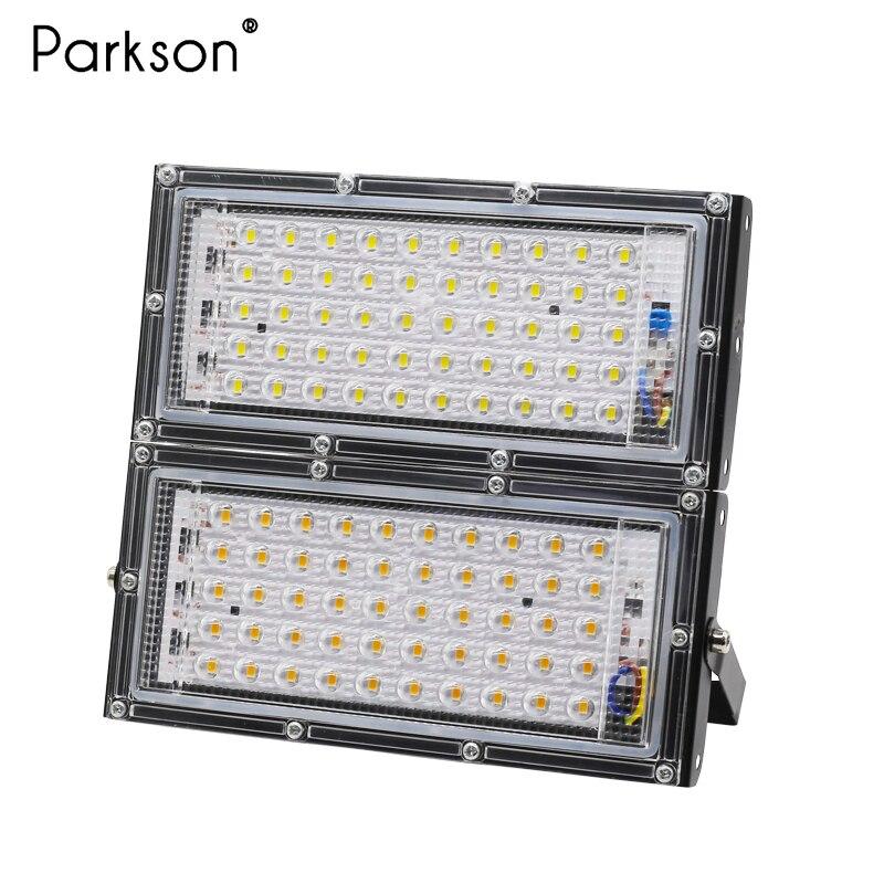 50W LED FloodLight Ip65 AC 220V RGB Outdoor LED Focus Spotlight Flood Light LED Reflector Waterproof Garden Lighting Street Lamp