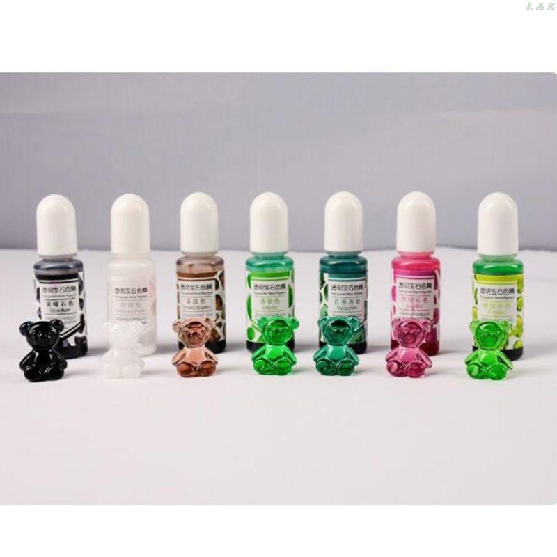 24 Color Epoxy UV Resin Gem Pigment Liquid Resin Dye DIY Resin Art Jewely Making
