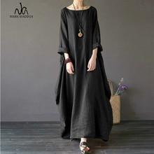 2019 Summer autumn Plus Size Dresses Women 4xl 5xl Loose long vintage Dress Boho Shirt Maxi Robe fashion Female
