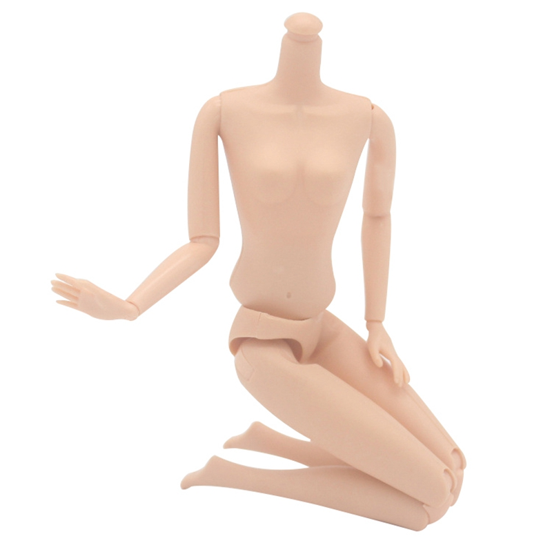 Girls 12 Joint Moveable Naked Body Toy Doll Accessories Baby Doll Toys Plastic Skin Color Body Toys