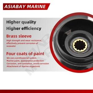 Image 4 - Outboard Propeller For Tohatsu Mercury 8hp 9.9hp 8.5*9 Boat Ship Aluminum Alloy Screw 3 Blade 12 Spline Marine Engine Part