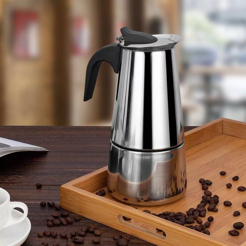Stainless Steel Coffee Pot Mocha Espresso Latte Percolator Stove Coffee Maker Pot Percolator Drink Tool Cafetiere Latte Stovetop 4