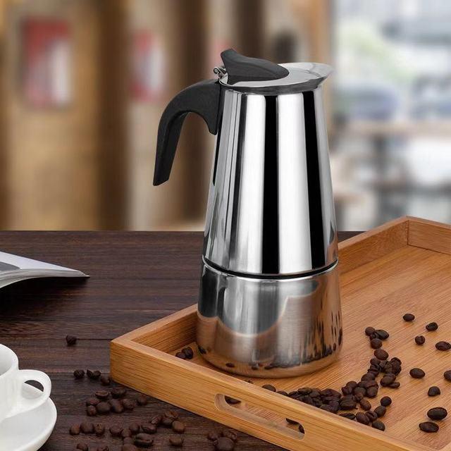 Stainless Steel Coffee Pot Mocha Espresso Latte Percolator Stove Coffee Maker Pot Percolator Drink Tool Cafetiere Latte Stovetop 5