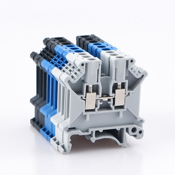 Din Rail Terminal Block Universal Conductor UK-3N Screw Connection Electrical Wiring Terminal Strip Block Connector UK3N 10Pcs tb1504 1pcs dual row barrier screw terminal block strip wire connector fixed wiring board 600v 15a