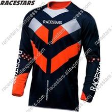 цена на RACESTARS 2020 Men's Downhill Jerseys Mountain Bike MTB Shirts Offroad DH Motorcycle Jersey Motocross Sportwear BMX Clothing MX