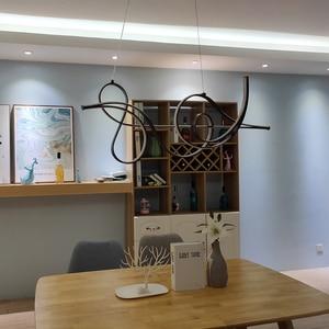 Image 5 - 커피 마무리 매달려 램프 현대 Led 샹들리에 침대 다이닝 룸 주방 서스펜션 조명기구 펜던트 샹들리에 정착물