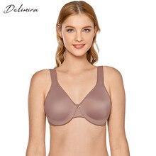 Delimira Для женщин бесшовные на полную фигуру на косточках гладкий Бюстгальтер Minimizer размера плюс