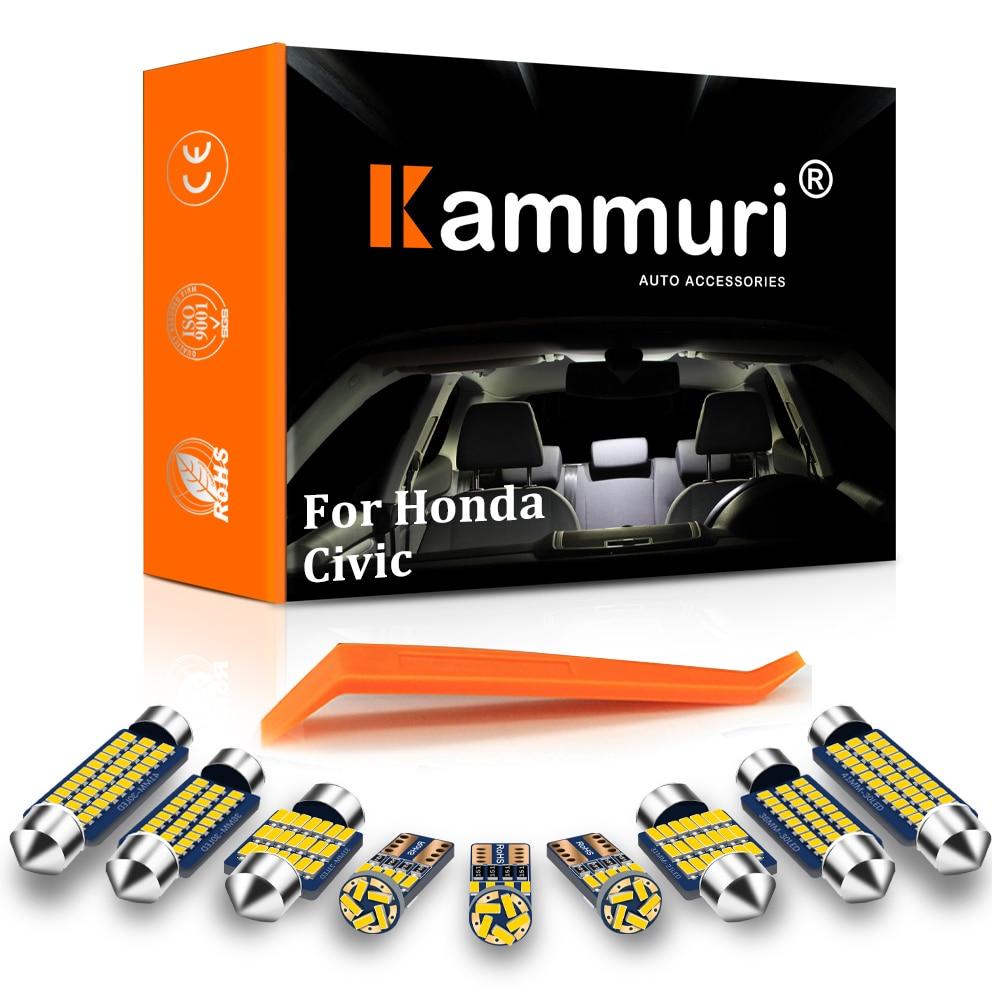Светодиодные лампы для салона автомобиля kammusi, Белый светодиодный комплект для Honda Civic, светодиодный светильник для салона автомобиля, 100% ош...