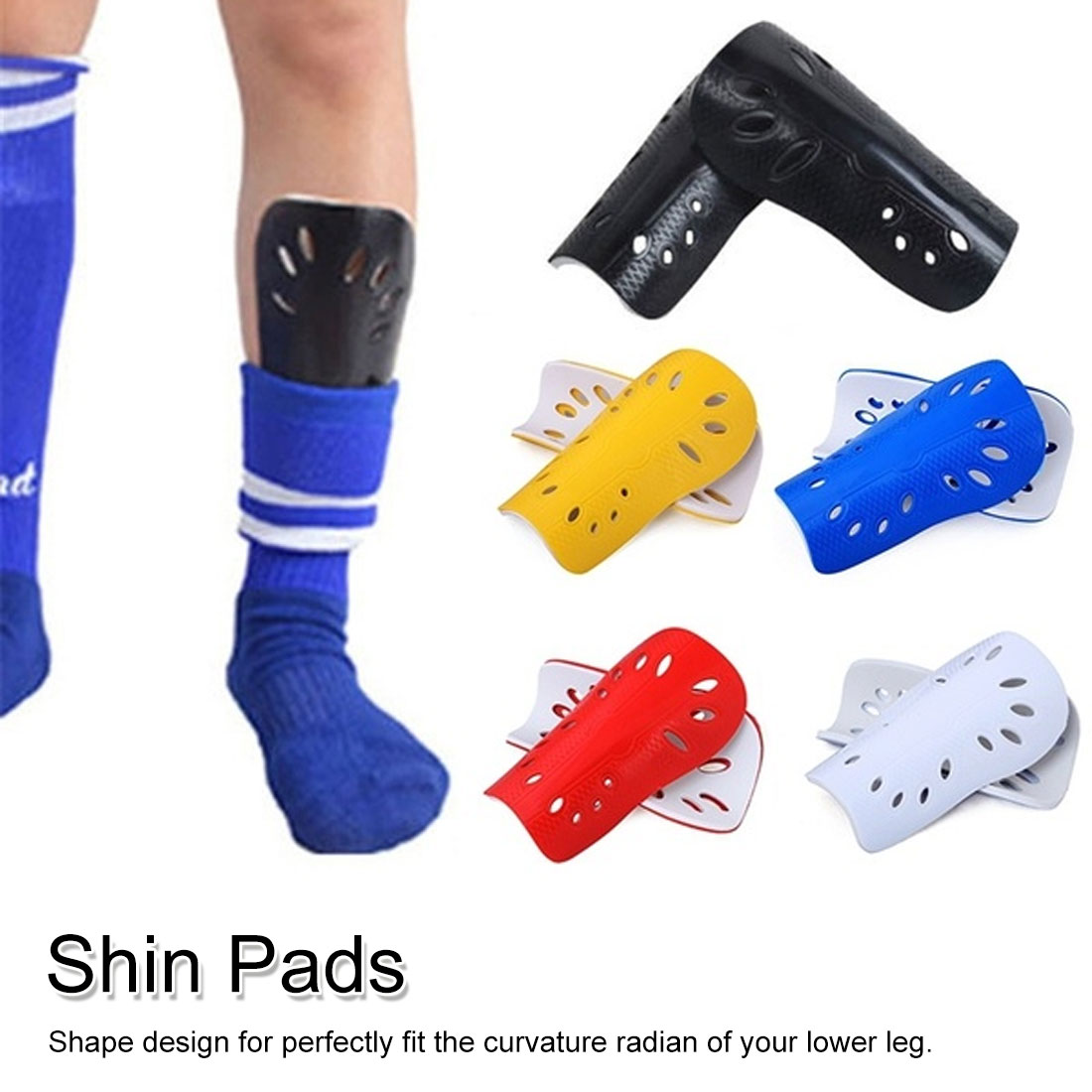 1 Pair Adult Knee Support Football Sports Football Game Soccer Shin Guards Pads Leg Sleeves Soccer Shin Pads
