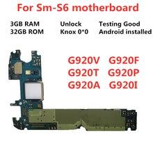 Материнская плата для Samsung Galaxy S6 разблокированная материнская плата G920F G920A G920T G920P G920V материнская плата 32 Гб логические платы