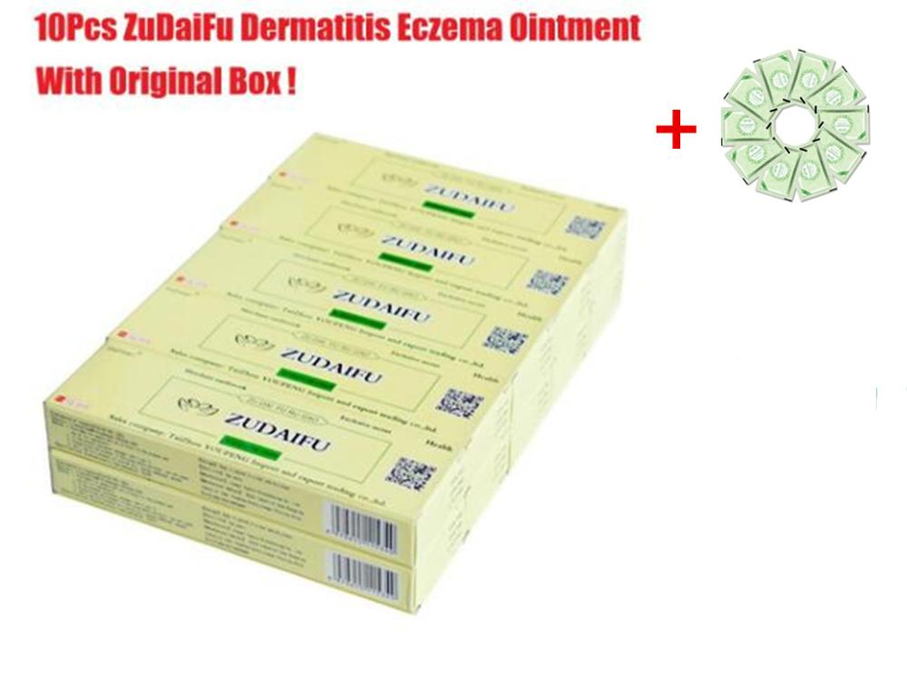 Hot Selling 10PCS ZUDAIFU Body Psoriasis Cream With Retail Box+10PCS GIFT