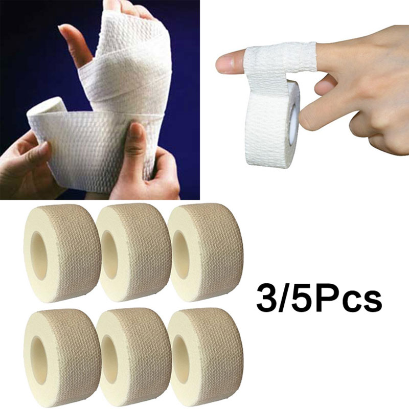 1/3/5 PCS Self-Adhesive Elastic Bandage First Aid Medical Health Care Treatment Gauze Tape First Aid Tool 1m/4.5m