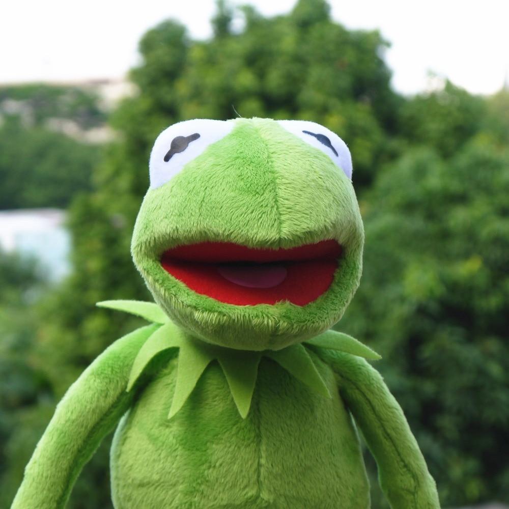 14'' 40cm Kermit The Frog The Muppet Show Kermit Plush Toys Sesame Street Doll Animal Frog Plush Stuffed Pendant Funny Gift