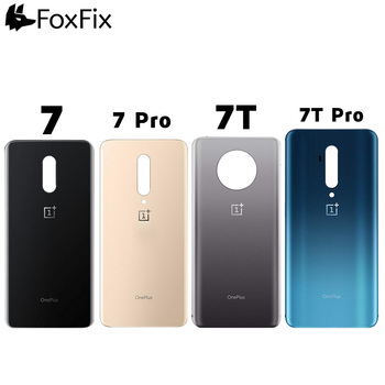 Back Cover OnePlus 7 Pro Battery Cover 7T Rear Door Housing Case One Plus 7 Pro Back Glass Panel OnePlus 7T Pro Battery Door original new back glass oneplus 7 7t pro battery cover door one plus 7t rear housing case oneplus 7 pro battery cover panel