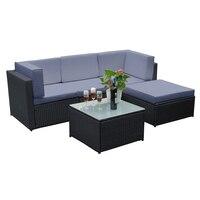 Panana, новый обновленный каркас, 6 шт., консервативный угловой диван из ротанга, набор садовой мебели, большой праздничный бассейн для отдыха