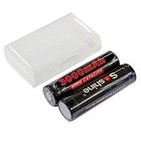 4 pezzi Soshine 3.2V 3000mAh LiFePO4 batteria AA 14500 batteria ricaricabile pilas protetta con custodia batteria e connettori