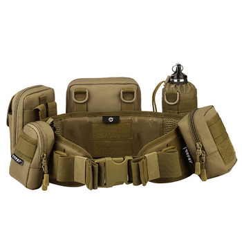 Men Army Military Hunting Accessories MOLLE Girdle Tactical Waist Belt Padded CS Belt Multi-Use Equipment Airsoft Wide Belts totrait tactical hunting molle battle belt military combat padded patrol belt for men waist support black tan green