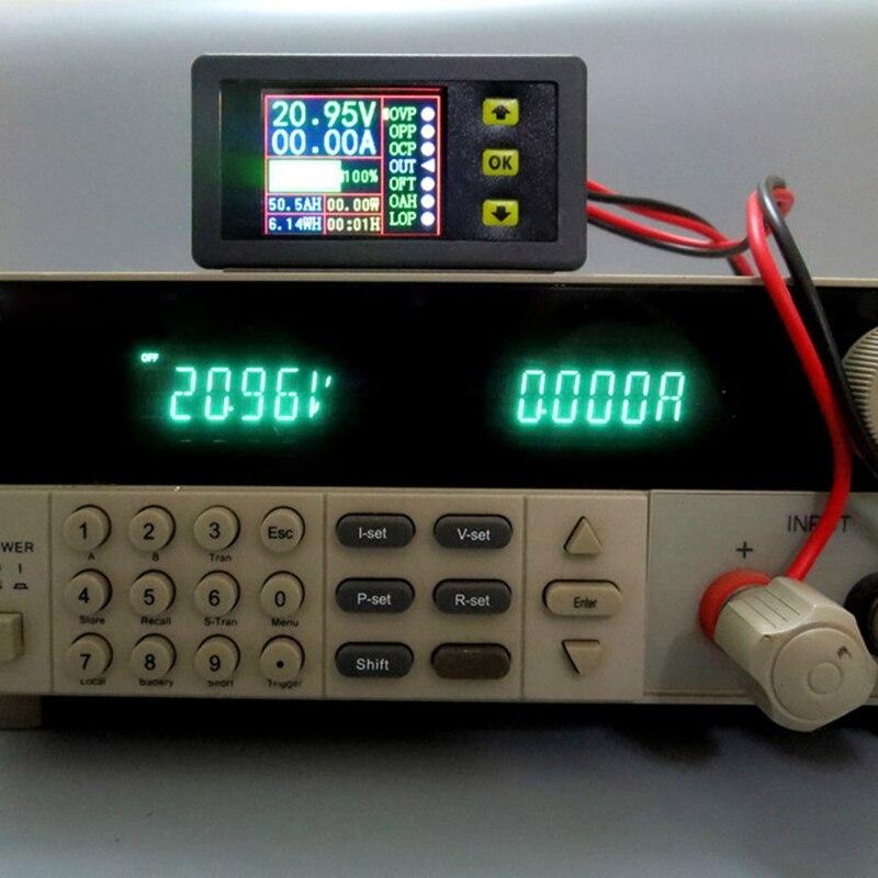 Цифровой мультиметр тестер заряда-разряда батареи постоянного тока 0-90 в 0-20A Вольт Ампер метр 19QB