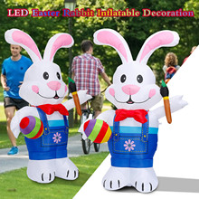 Outfit Decoration Outdoor Inflatable Balloon Rabbit-Toys Cosplay Led Easter Fun Holding-Pen