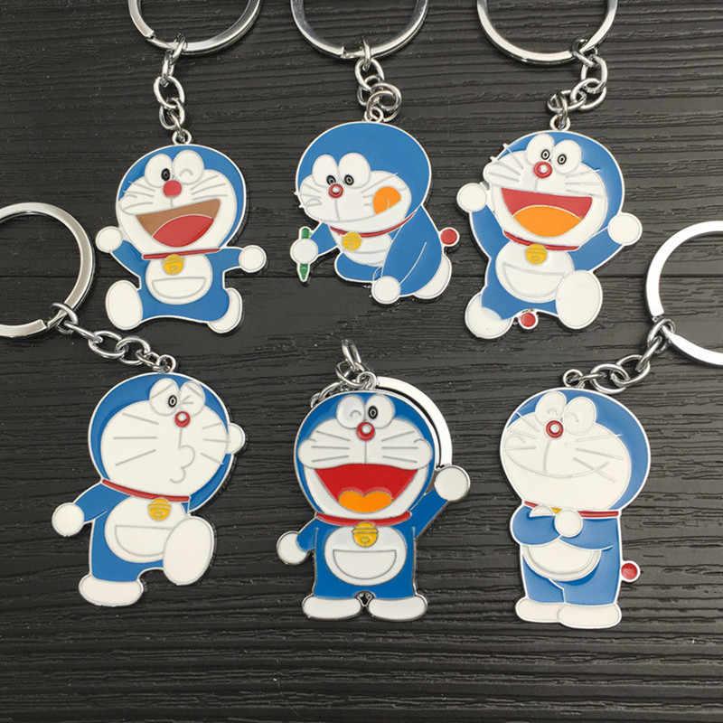 2020 di Modo Carino Robot Catena Chiave Del Gatto per Le Donne Degli Uomini Del Metallo Del Fumetto di Doraemon Classico Amanti Anello Chiave Del Regalo Dei Monili Del Pendente llavero