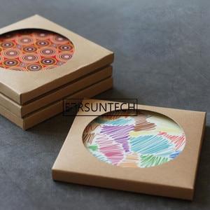 300pcs Kraft Paper Coaster Pac