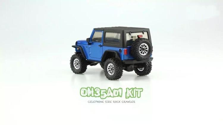 1/35 desmontado modelo mini controle remoto fora de estrada escalada carro kit para orlandoo huntera01 wrangler crawler peças diy - 4