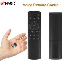 G20 صوت التحكم عن بعد العالمي 2.4G لوحة مفاتيح صغيرة لاسلكية PK G10 ماوس هوائي الدوران لصندوق التلفزيون أندرويد 9.0 10.0 H96MAX صندوق التلفزيون