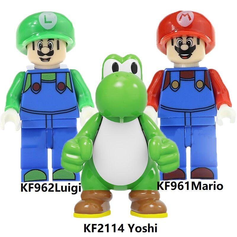 Building Blocks Super Bros Mario Luigi Yoshi RX-Black Kamen Rider Kataro Minami Figures Collection Toys For Children KF2114