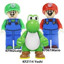Blocs de construction Super Bros Mario Luigi Yoshi RX-noir Kamen cavalier Kataro Minami figurines Collection jouets pour enfants KF2114(China)