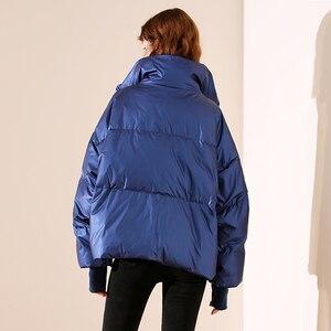 Image 3 - 새로운 광택 방수 여성 자 켓 파 카 2019 겨울 자 켓 여성 패션 Windproof 따뜻한 패딩 아래로 파 카 여성 코트 여성