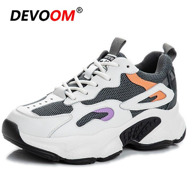 New Fashion White Chunky Sneakers Women