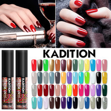 Kadition Baru DIY Glitter Kuku Gel Semi Permanen Cat Kuku Colorful LED UV Kecantikan Manicure DIY Cat 5 Ml kuku Rendam Off(China)