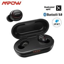 Mpow ipx7 водонепроницаемые T5/M5 обновленные TWS наушники беспроводные вкладыши Bluetooth 5,0 Поддержка Aptx 42h время воспроизведения для iPhone samsung