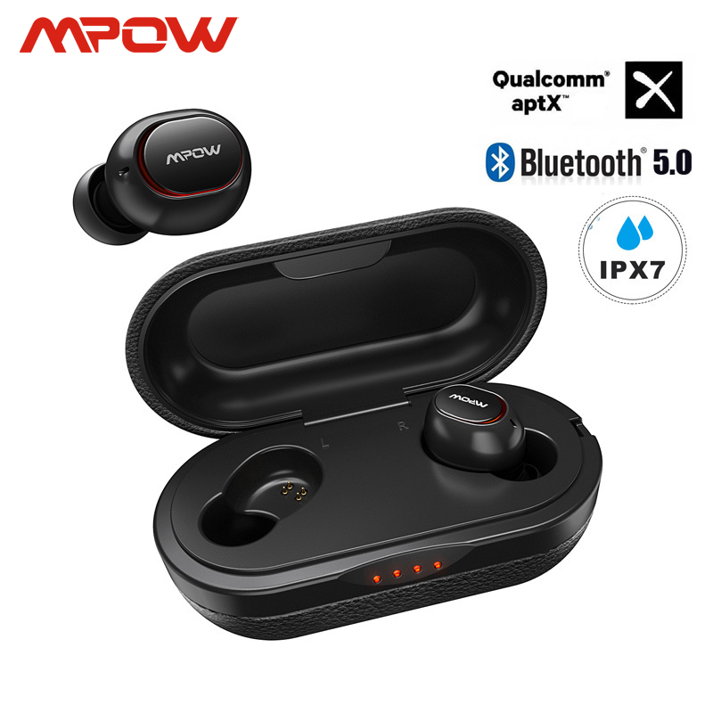 <font><b>Mpow</b></font> ipx7 Waterproof <font><b>T5</b></font>/M5 Upgraded <font><b>TWS</b></font> Earphones Wireless Earbud Bluetooth 5.0 Support Aptx 42h Playing Time For iPhone Samsung image