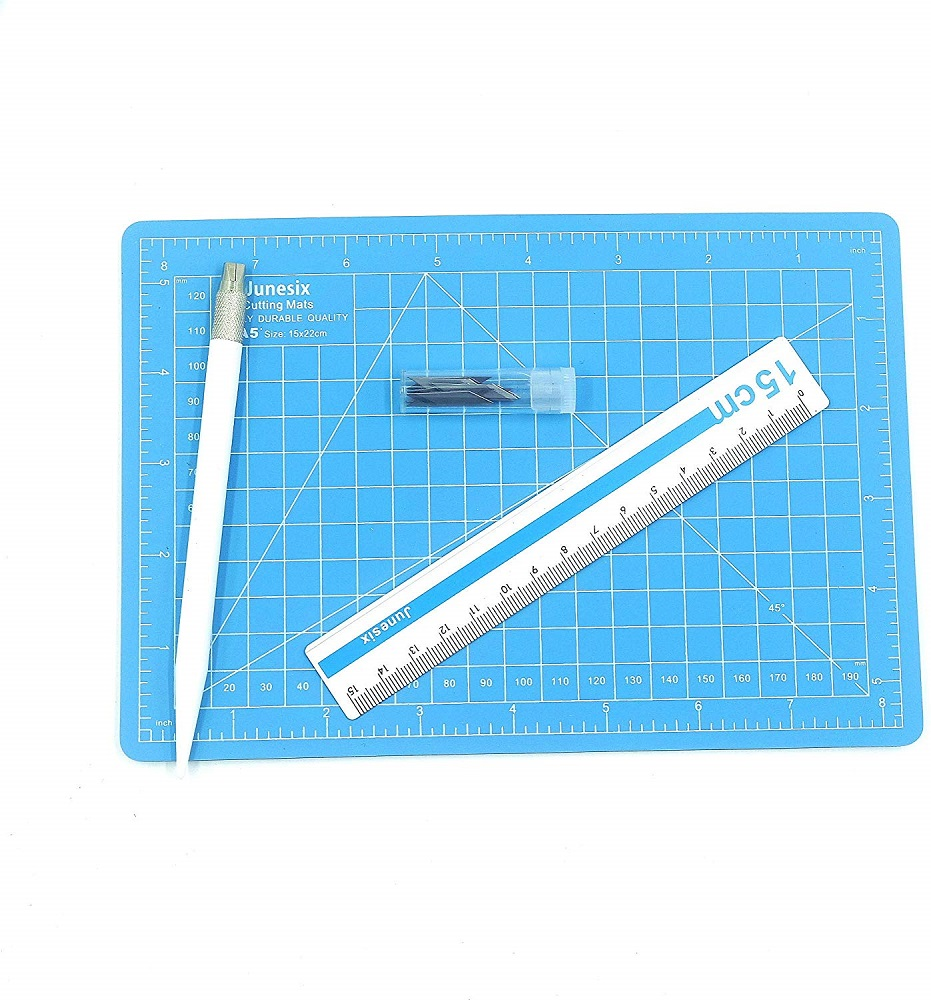 15pcs Cutting Mat A5 Set Craft Engraving Pen Knife Metal Ruler Self Healing Double Sided DIY Cutting Board Stationery Dropship
