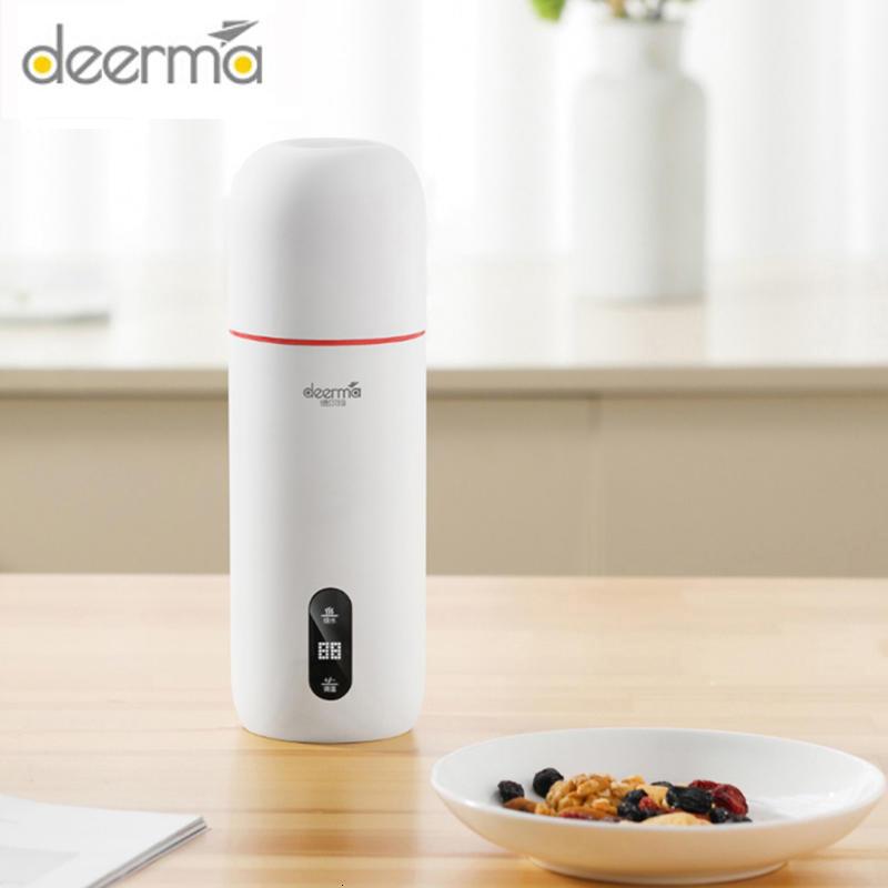 Deerma Портативный электрический чайник с термостатом чашка кофе путешествия водонагреватель контроль температуры умный чайник для воды