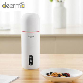 Deerma Portable Electric Kettle Thermal Cup Coffee Travel Water Boiler Temperature Control Smart Water Kettle Appliances Consumer Electronics