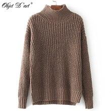 保温女性ニットセーターブラウストップフルスリーブプルオーバーセータータートルネックプラスサイズのセーター無地冬のセーター