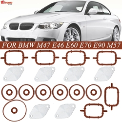 6X 32MM For BMW M47 M57 Swirl Flaps Repair Delete Seal Kit With Intake Gaskets 11612246949 11617790198 11612245439 11612246945