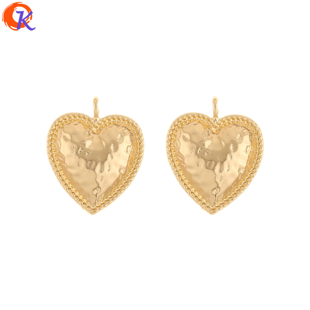 Cordial Design 50Pcs 24*29MM Jewelry Accessories/Charms/DIY Earrings Making/Heart Shape/Hand Made/Earring Findings/Pendant