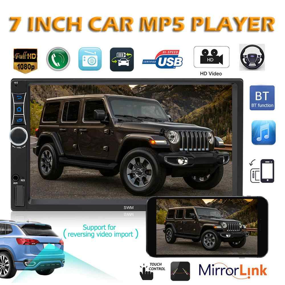 "SWM A2 2Din Android 8.1 Mobil Radio Stereo Video MP5 Player 2 DIN 7 ""Layar Sentuh Gps Navi Bluetooth WIFI USB TF Multimedia Player"