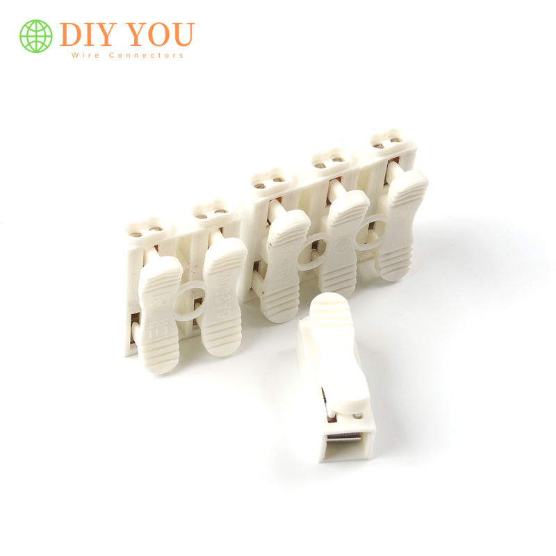 30/50/100 PCS Electrical Cable Connector Clamp Terminal Block ZQ-1/2/3 Wire Connectors LED Strip Light Quick Wiring Connection