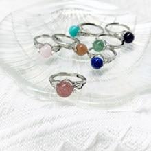 Momiji moda anéis cura natural pedra anéis ametistas ágata rosa quartzo womenparty casamento rotatable atacado
